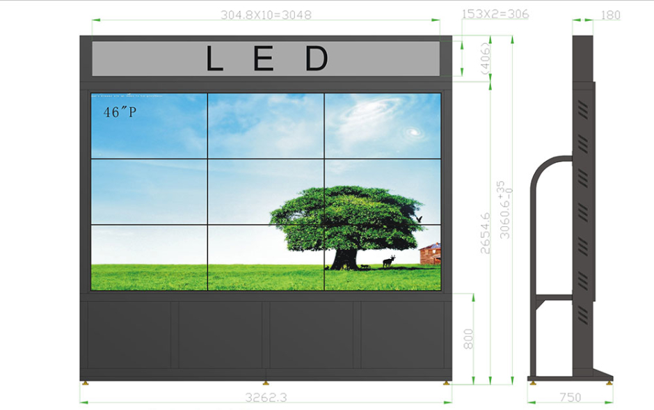 46寸超窄边(LED低亮,3.5mm)